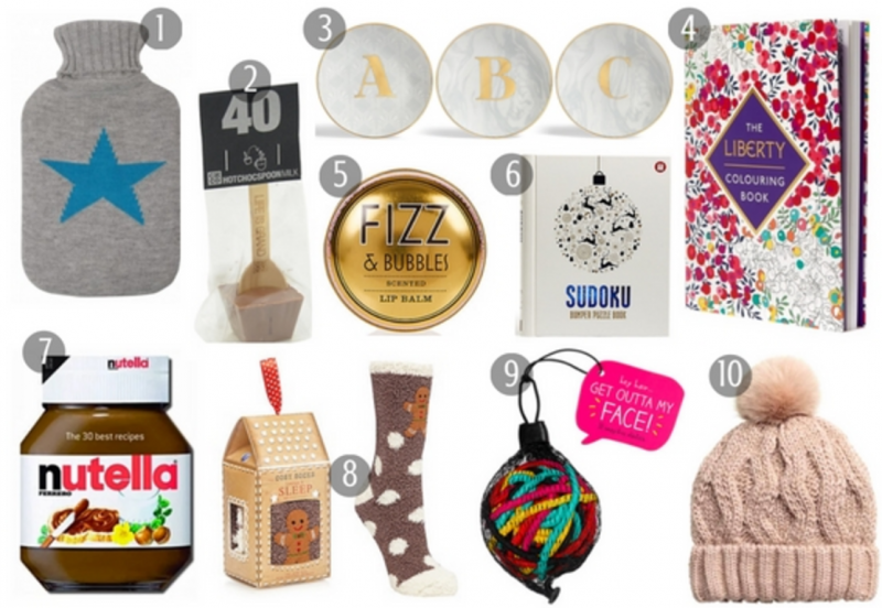 Christmas Gift Guide Stocking Fillers For Her £10 and under